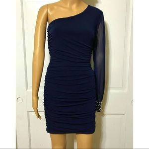 NWT One Shoulder Ruched Bodycon Homecoming Dress M